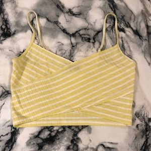 Yellow and White Crop Top Forever 21